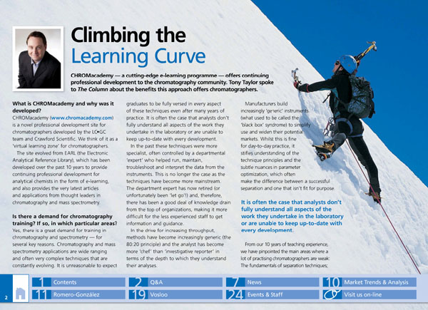 Climbing the Learning Curve | LCGC