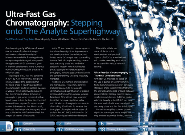 Ultra-Fast Gas Chromatography: Stepping onto The Analyte
