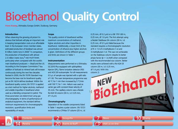 bioethanol quality control