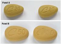 comparison of authentic and suspect pharmaceuticals