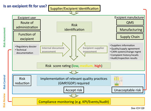A practical approach of implementing gmp for excipients figure 1 risk assessment roles for excipients users and manufacturers pronofoot35fo Images