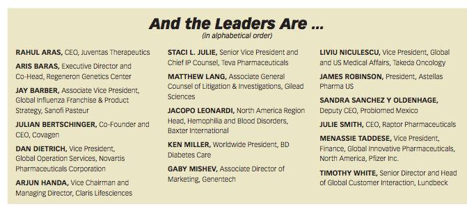 Pharm Exec's Emerging Pharma Leaders 2015 | Pharmaceutical Executive