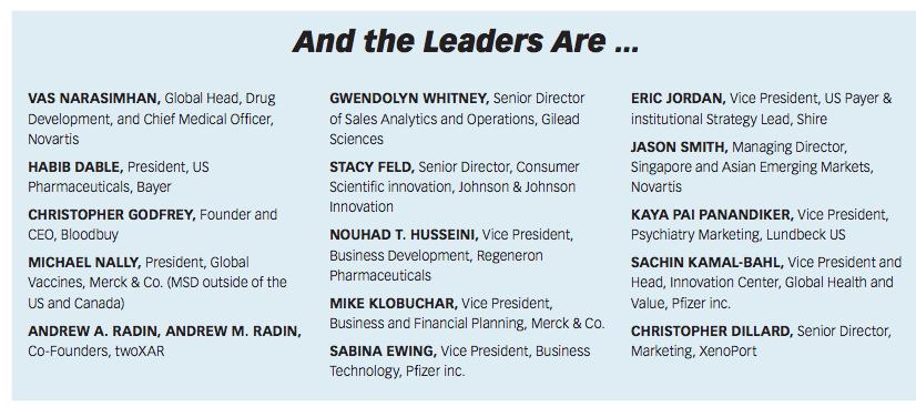 Pharm Exec's Emerging Pharma Leaders 2016 | Pharmaceutical Executive