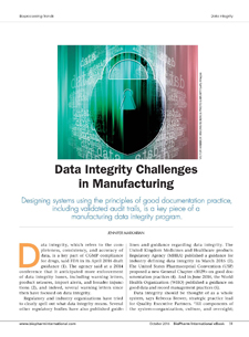 Data Integrity Challenges in Manufacturing | BioPharm