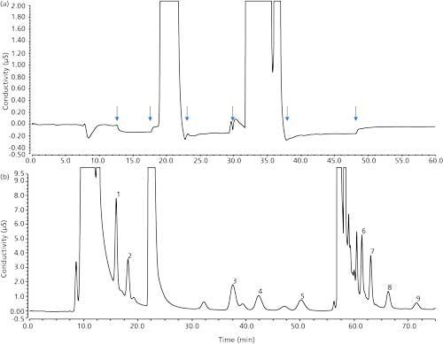 Haloacetic Acid Analysis Using Two-Dimensional Matrix-Elimination